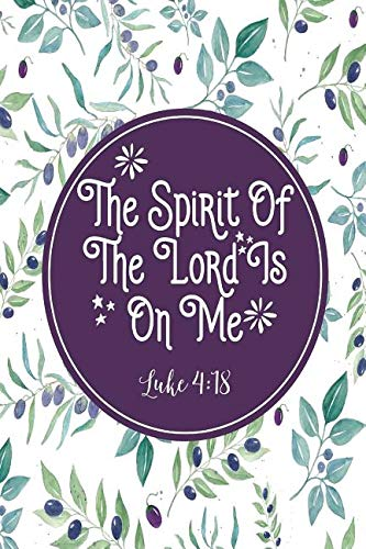Download The Spirit of the Lord Is on Me: Bible Verse Quote Cover Composition Notebook Portable pdf epub