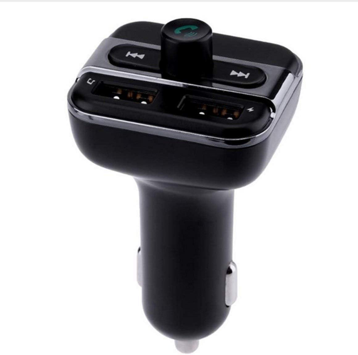 BT20 Manos Libres para automóvil transmisor FM Dual USB 3.4A Cargador para automóvil TF Manos Libres para automóvil