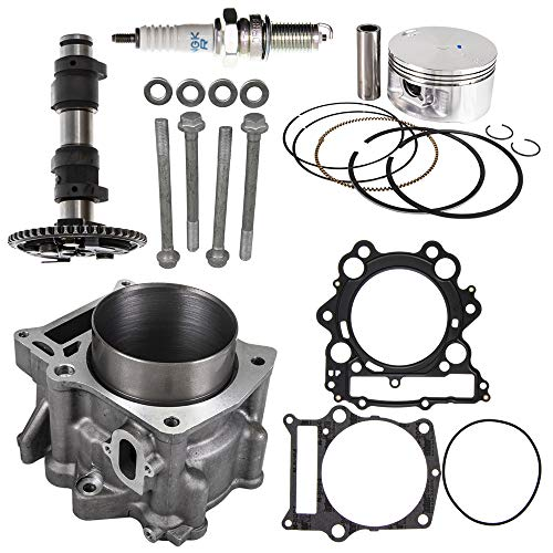 Cylinder Camshaft Piston Gasket Top End Kit For 2002-2008 Yamaha Grizzly Rhino Replaces 5KM-11310-00-00 2C6-11631-00-X0 ()