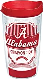 Tervis 1229013 Alabama Crimson Tide Pregame Prep Tumbler with Wrap and Red Lid 16oz, Clear