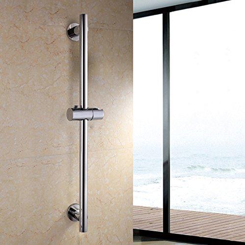 YIGII Bathroom Adjustable Hand Shower Slide Bar Showerhead Bracket Holder Stainless Steel Polish - Bar Adjustable Slide