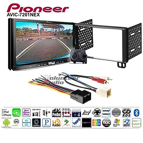 Volunteer Audio Pioneer AVIC-7201NEX Double Din Radio Install Kit w/GPS Navigation Apple CarPlay Android Auto Fits 2002-2005 Explorer, 2001-2004 Mustang ()