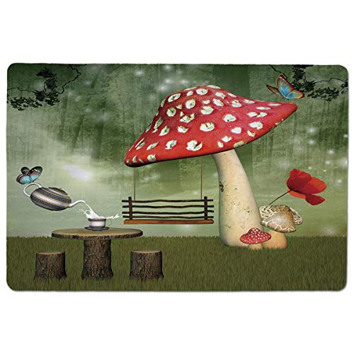 - SCOCICI Premium-Textured Mouse Mat Pad Picnic in Fantasy Garden Wood Table Poppy Flower Swing Teapot and Milk Splash De,Non-Slip Rubber Base Mousepad,for Laptop,Computer,PC,Keyboard (23.6x15.7 inch)