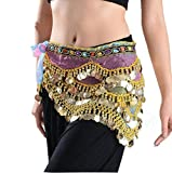 Lucky staryuan Cyber Monday Women's Belly Dance Hip Scarf With Silver Coins (Colorful)