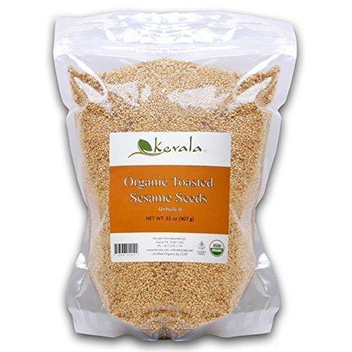 Kevala Organic Toasted Sesame Seeds 2Lbs (4-Pack)