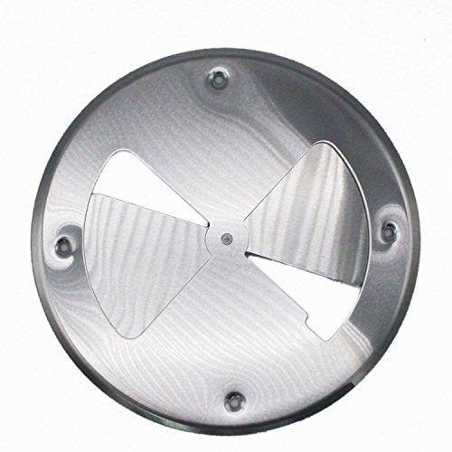 X-Haibei Round Butterfly Ventilator Vent Cover Aluminum Dia. 7.8 inch for Marine Boat Trailer