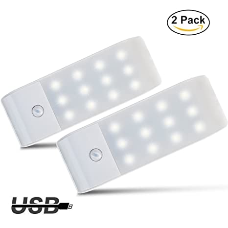 Luces de Noche LED,GPISEN Pack de 2 Luces con Sensor de Movimiento,Lámpara