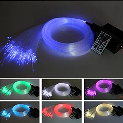 16W LED RGBW Fiber Optic Star Ceiling Kit Lights +28KEY Remote Controller 450pcs0.75mm3m+5PCS crystal