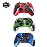 xbox one controller covers - Xbox One Controller Protective Case, CALLANY 3 Pack Soft Anti-Slip Silicone Controller Cover Skins with Thumb Grips Set