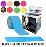 Blue Kinisiology Tape Pre-cut Roll | Physiotherapy chiropractic orthopedic | Kinesio Tex Gold kinesiotapes Theraband | Diaphragmatic hypotonia abdominal surgery Achilles patellar tendonitis tendonosis