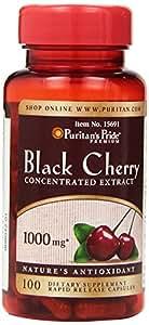 Puritan's Pride 2 Pack of Black Cherry 1000 mg Puritan's Pride Black Cherry 1000 mg-100 Capsules