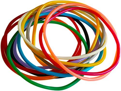 [Colorful Jelly Bracelets - 12 Pack of Individual Colors] (Sports Day Costume Ideas Blue)