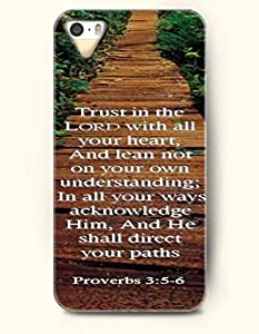 iPhone 4 4S Case OOFIT Phone Hard Case **NEW** Case with Design Trust In The Lord With All Your Heart,And Lean Not On Your Own Understanding;In All Your Ways Acknowledge Him, And He Shall Direct Your Paths Proverbs 3:5-6- Bible Verses - Case for Apple iPhone 4/4s by icecream design