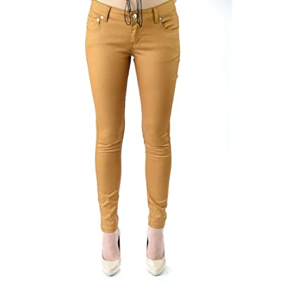 Exocet Soft Coated Skinny Stretch Jeans in Copper at Women's Jeans store