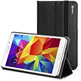 Samsung Galaxy Tab 4 8.0 Case - Poetic Samsung Galaxy Tab 4 8.0 Case [SlimBook Series] - [SlimFit] [Professional] PU Leather Slim Folio Case for Samsung Galaxy Tab 4 8.0 Black (3 Year Manufacturer Warranty From Poetic)
