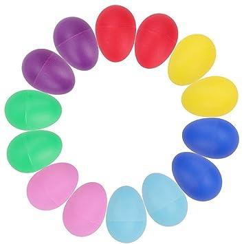 Piezas Maracas Huevo 14 De Plástico Percusión Juguetes Musicales tBshQrdCx