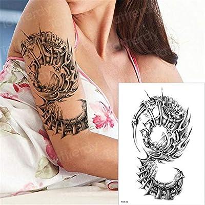 3pcs-Temporal a través del Tatuaje Tatuaje de Halloween de una ...