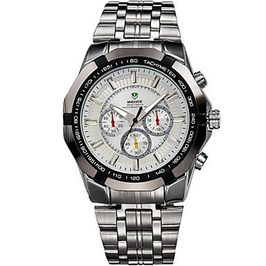 Amazon.com : Fashion Watches WEIDE Mens Sports Watch Military Full Steel Quartz Luxury Waterproof Wristwatch (Color : White, Size : One Size)  : Sports & ...
