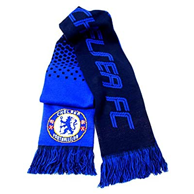 Chelsea FC Official Fade Football/Soccer Crest Supporters Scarf
