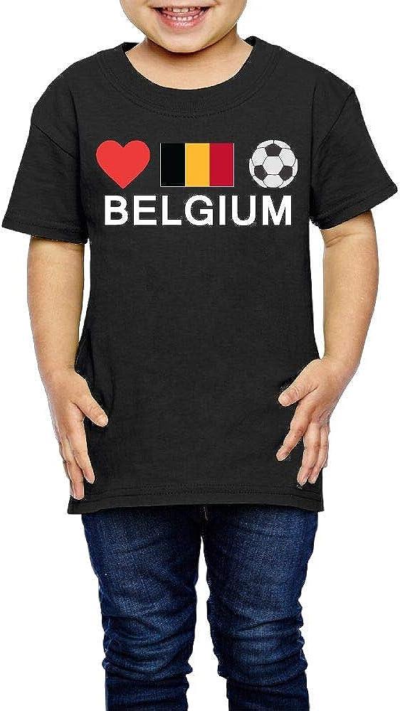 2-6 Years Old Kcloer24 Belgium Football Belgium Soccer Boys/&Girls Cute T-Shirt Summer Tee