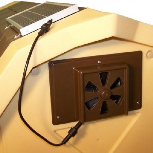 - Dog Palace Breeze Solar Powered Exhaust Fan - Large