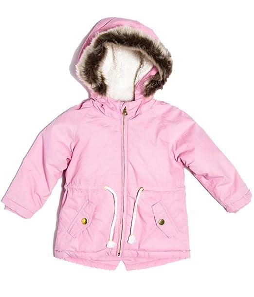 55bb11ff7c1 Baby Toddler Girls Parka Jacket Coat - Pink 12 Months - 3 Yrs ...