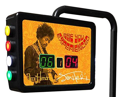 Jimi Hendrix - AYE (Orange) Electronic Shuffleboard Scoring Unit - Officially Licensed by Holland Bar Stool Co.