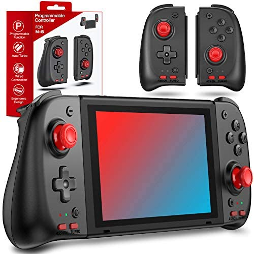 Kydlan with Turbo Motion Control Upgraded Replacement for Nintendo Switch Controllers Joy-con , Curved-designed for Nintendo Switch Controller Joycon, Programmable for Switch Controller Joy con Gift