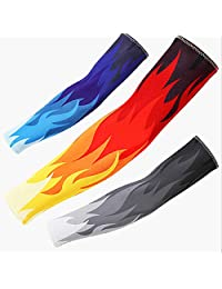 Arm Sleeves Athletic Compression Arm Sleeves Baseball Basketball Football Boys Girls Kids Men & Women Useful and Durable