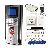 TCP/IP Biometric Fingerprint Password RFID Access Control Time Attandance System Kit 600Lbs Magnetic Lock