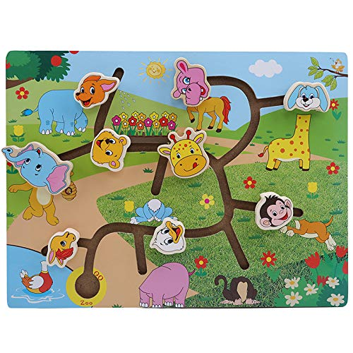 (Firecolor Maze Puzzle Animals Traffic Fun Puzzles Early Learning Children Kids Toys,Animal Shape)