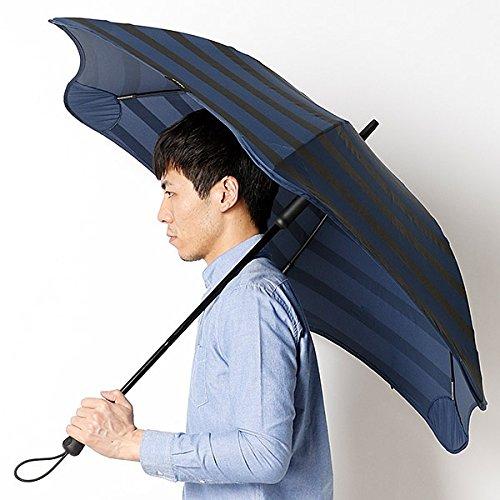 ブラント(BLUNT) 【空気力学による風に強い構造】メンズ長傘ボーダー柄(雨傘) B071GDQ1ZM 65|74ネイビー 74ネイビー 65