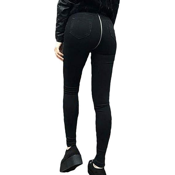 spécial chaussure nouveaux styles comment commander Pantalon Large Femme Taille Haute Jeans Fermeture Éclair ...