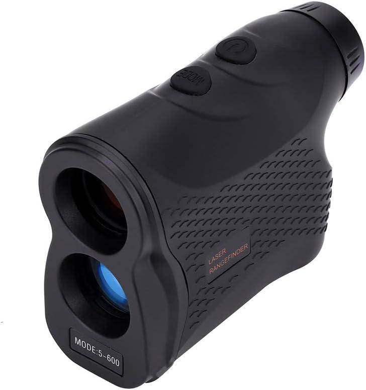 Telémetro de Golf, Telémetro Prismático Profesional Monocular Medidor de Distancia Larga, 6X Aumento, Velocidad de telescopio Caza de Golf Compacto, Negro
