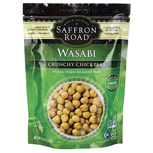 Saffron Road Organic Crunchy Chickpeas, Wasabi, 6 Ounce
