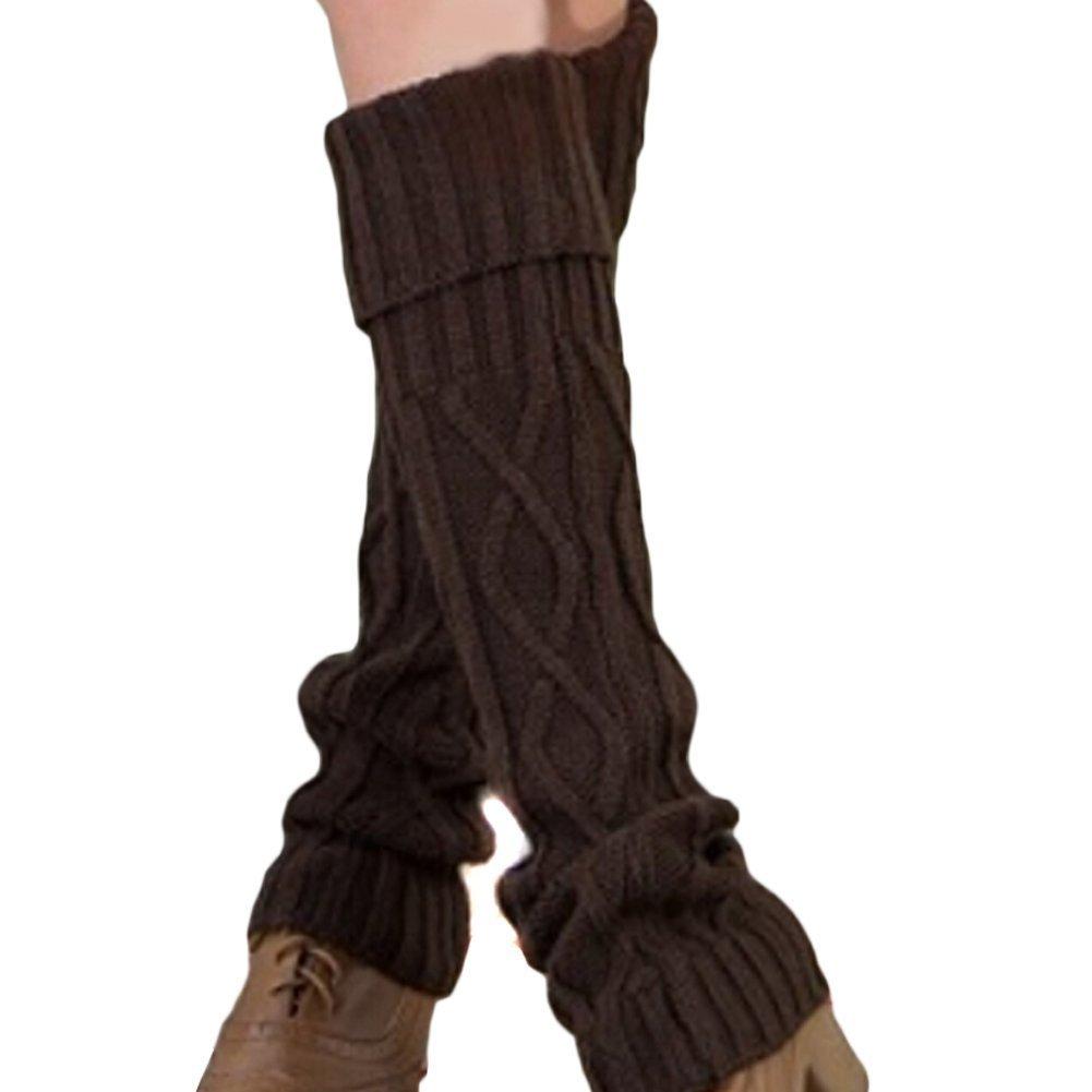 Butterme Mode Winter warme Geh/äkelt Stricken Stulpen LegWarmer Kniehohe Stiefel Socken Stulpen Str/ümpfe f/ür Frauen M/ädchen