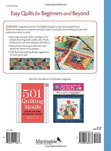 Easy Quilts for Beginners and Beyond: 14 Quilt Patterns from Quiltmaker Magazine by That Patchwork Place (Image #2)