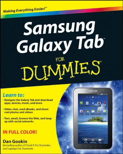 [PDF] Samsung Galaxy Tab For Dummies Free Download | Publisher : For Dummies | Category : Computers & Internet | ISBN 10 : 1118024451 | ISBN 13 : 9781118024454