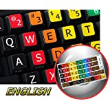 LEARNING LARGE LETTERING (UPPER CASE) ENGLISH US COLORED KEYBOARD STICKER