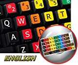 keyboard typing - LEARNING LARGE LETTERING (UPPER CASE) ENGLISH US COLORED KEYBOARD STICKER