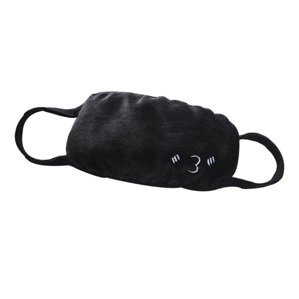 Cotton Black Mouth Muffle Unisex Warm Mask Anti-Dust Mouth Muffle