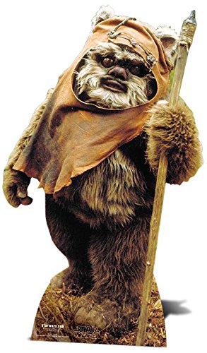 Star Cutouts SC481 Wicket Ewok Star Wars Party and Collectors Item Lifesize Cardboard Stand Up, Multicolour, Ca. 90 cm (Anime Cutouts Cardboard)
