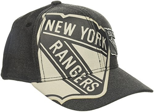 fan products of NHL New York Rangers Adult Men Pro Authentic T&T Structured Flex, Small/Medium, Black