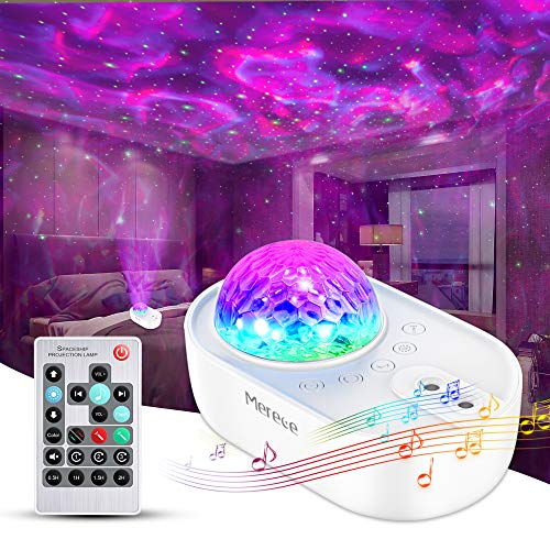 Star Projector, Merece 3 in 1 Galaxy Night Light Projector with Remote Control, Bluetooth Music Speaker & 5 White Noises for Bedroom/Party/Home Decor, Timing Sky Starry Projector for Kids & Adults