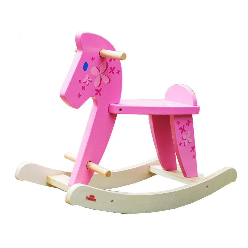 almacén al por mayor Caballitos de madera Caballo mecedora silla mecedora para para para niños troyano silla maciza de madera maciza para el hogar pequeño troyano juego para niños caballo mecedora bebé juego troyano Caballitos de m  para barato