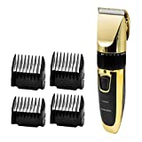JINDIN Electric Men Hair Clippers Cordless Quiet Beard Trimmer Mustache Razor Barber Hair Cutting Machine with Comb for Adult and Kids