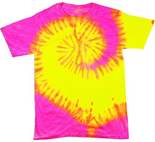 Buy Cool Shirts Tie Dye Shirt Neon Flourescent Pink Yellow Swirl T-Shirt Small (Swirls T-shirt Neon)