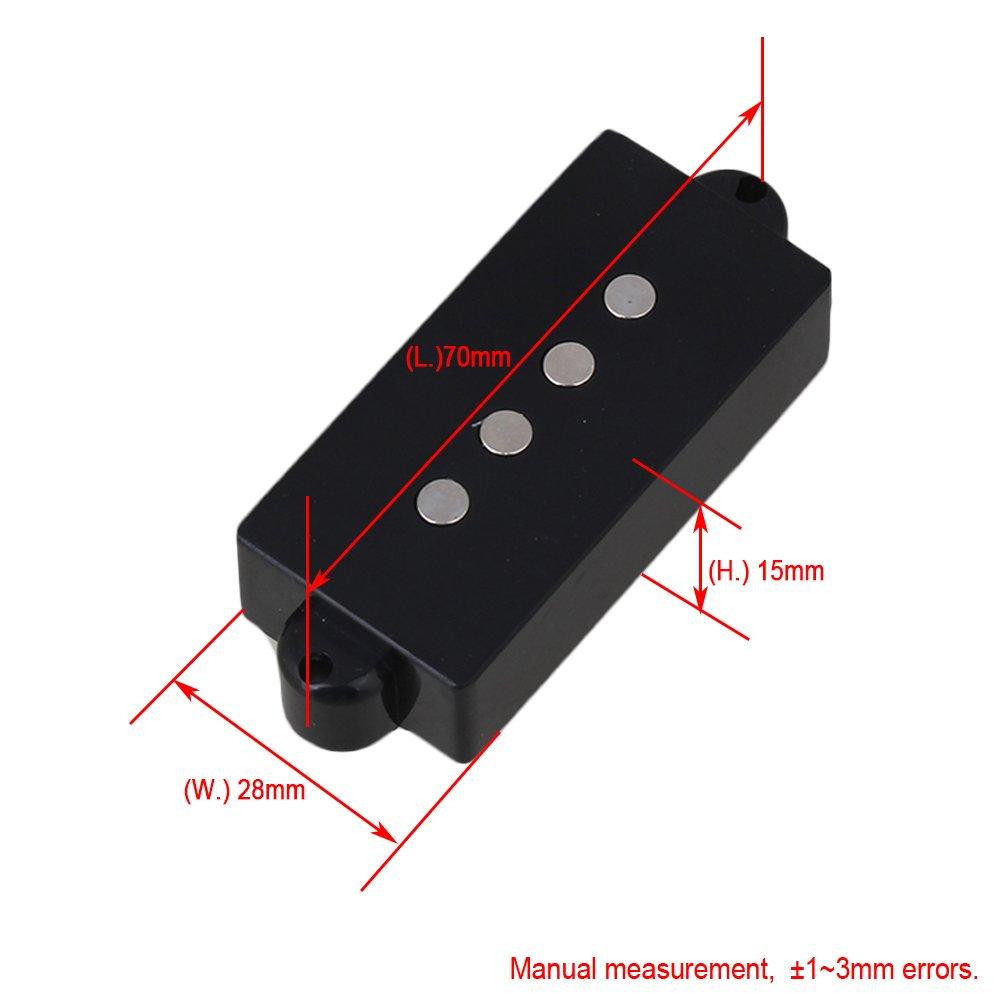 yibuy 8.06/K 4/cuerdas Humbucker Pickups para PB guitarra negro
