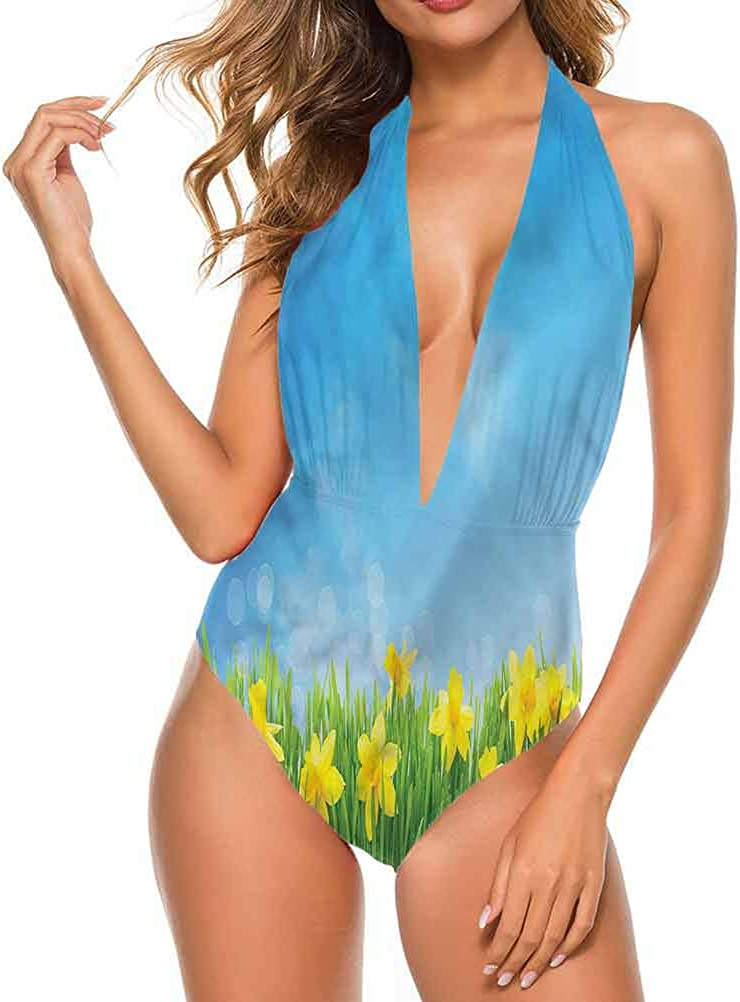 Adorise Maillot de bain jonquille, doux jardin printanier pour vous rendre confortable/confiant. Multi 23.