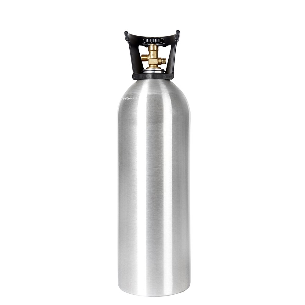 New 20 lb Aluminum CO2 Cylinder with Handle and New CGA320 Valve by Luxfer